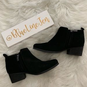 Ida Waterproof Suede Booties NWOT